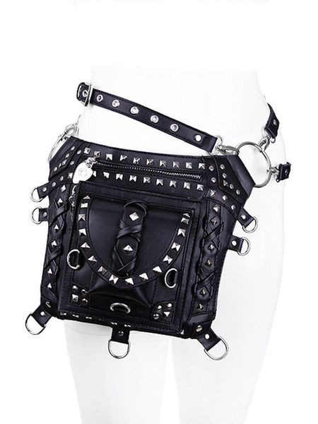 Black Studded Holster Bag Waistbag – Bild 3