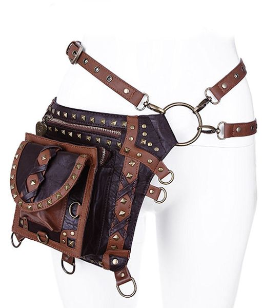 Brown Studded Holster Bag Waistbag – Bild 1