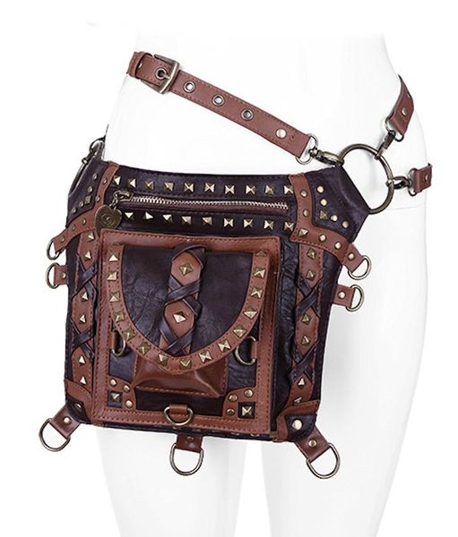 Brown Studded Holster Bag Waistbag – Bild 2