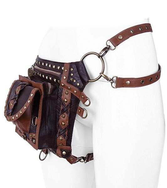 Brown Studded Holster Bag Waistbag – Bild 6