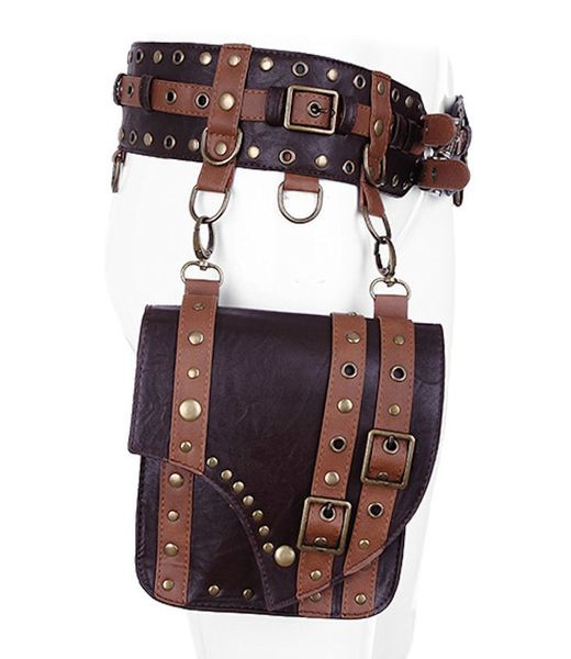 Gürteltasche Waistbag Saddlebag Belt brown – Bild 3