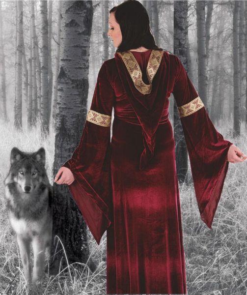Medieval Velvet Dress – Bild 6