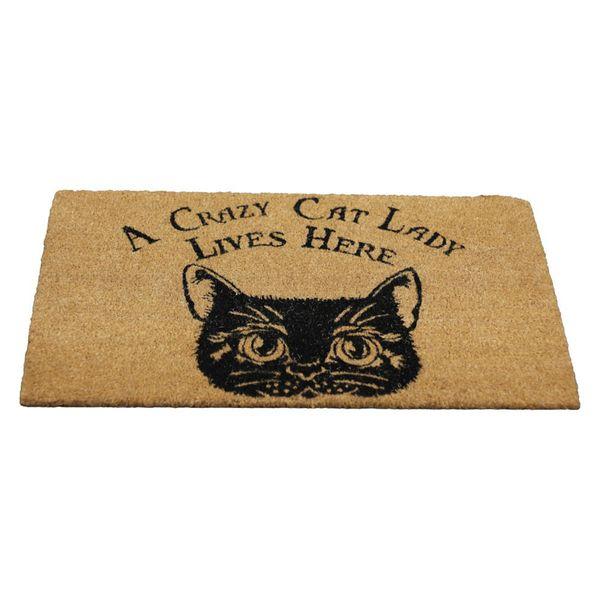 Fußmatte A Crazy Cat Lady Lives Here – Bild 1