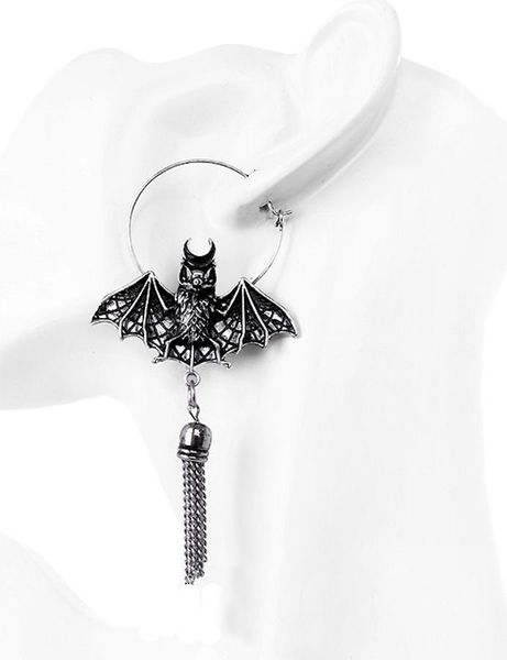 Ohrringe Oriental Bat Earrings silver – Bild 2