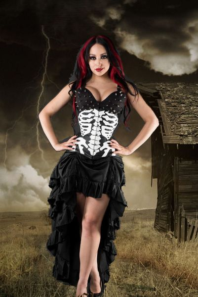 Rock Vampire Bustle Skirt – Bild 1