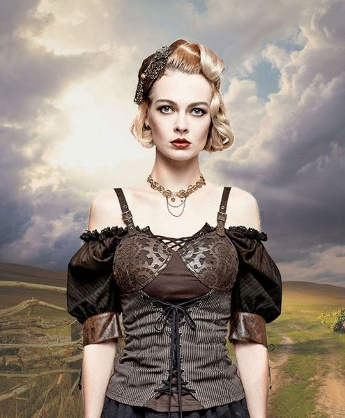 Steampunk Corsagen - Top Abby – Bild 3