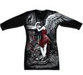 Longshirt Red Roses Angel with Raven
