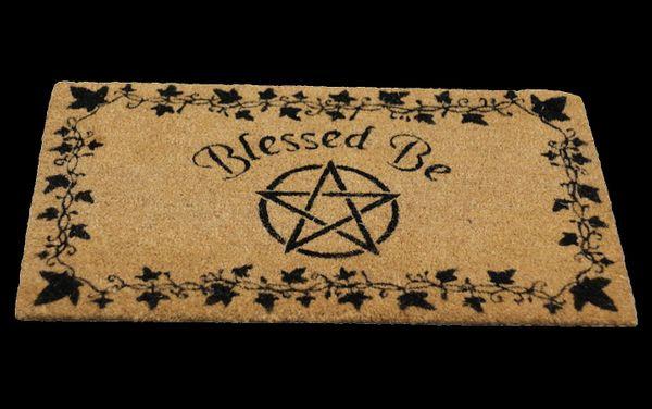 Türmatte Pentagramm Blessed Be – Bild 1