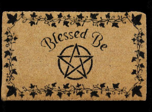 Türmatte Pentagramm Blessed Be – Bild 2