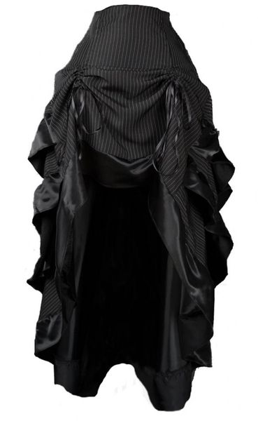 Rock Pinstripe Bustle Skirt – Bild 1