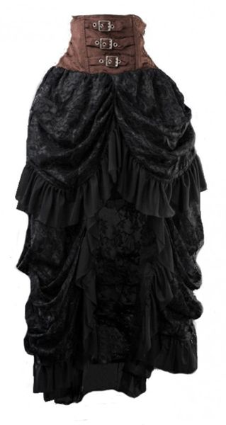 Rock Hot Steam Bustle Skirt