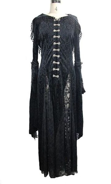 Mantel - Kleid Devilish-Lace-Hoodie-Dress – Bild 5