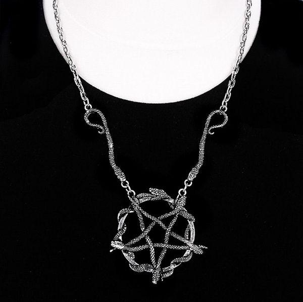 Halskette Snake Pentagram – Bild 2