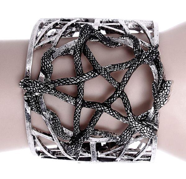 Armband Spange Snake Pentagramm – Bild 1