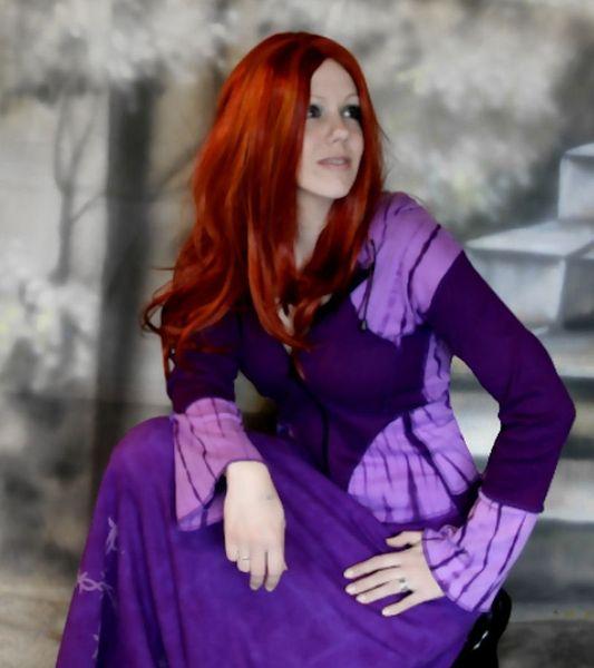 Hoodie Purple Batik – Bild 1