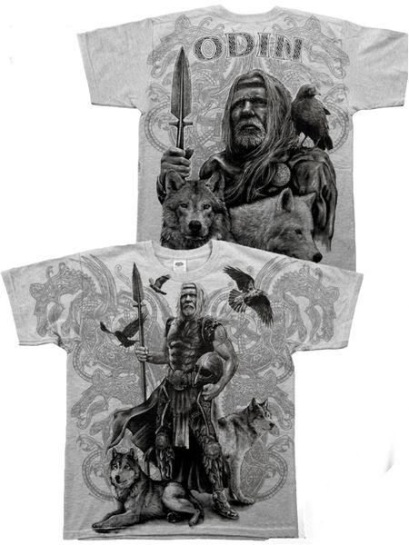 Odin´s white Shirt Wolf and Raven – Bild 3