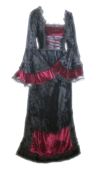 Long Empire Velvet Dress 3068 – Bild 1