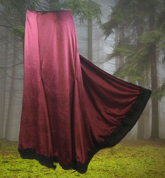 Rock Burgundy Skirt – Bild 1