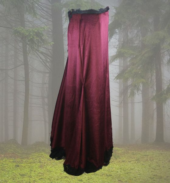 Rock Burgundy Skirt – Bild 2