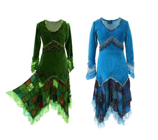 Kleid Elvish Velvet Dress – Bild 3