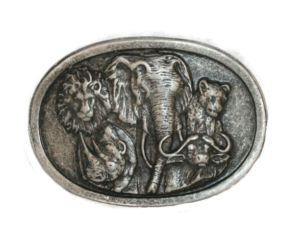 Buckle Big Five altsilber