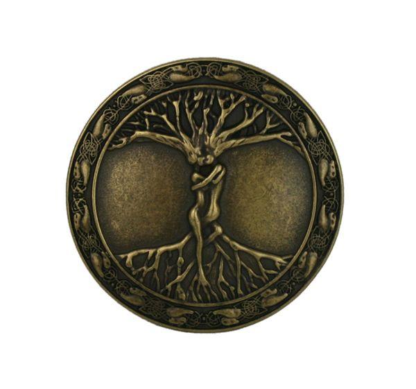 Buckle Lebensbaum altmessing