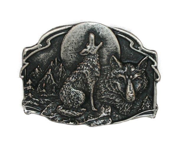 Gürtel heulender Wolf altsilber – Bild 2