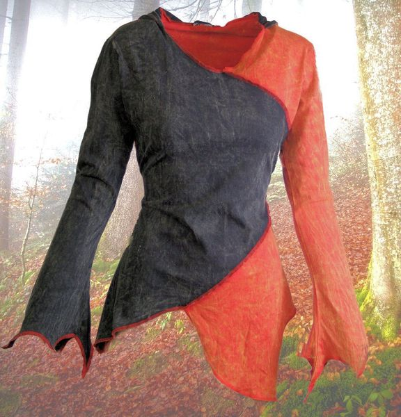 Top 2-Color-Witchy Hoodie – Bild 10