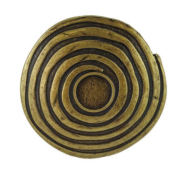 Gürtel keltische Spirale altmessing – Bild 2