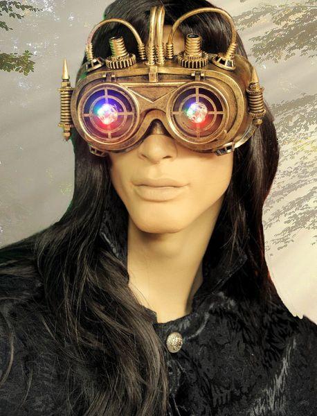Maske LED Robot-Goggles – Bild 4