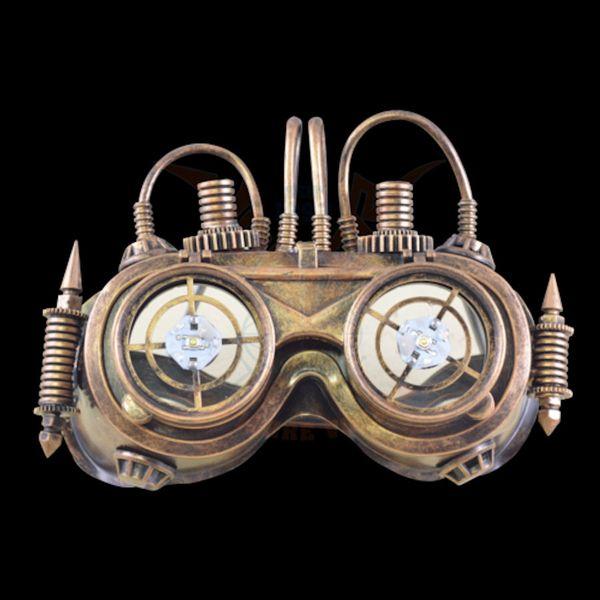 Maske LED Robot-Goggles – Bild 6