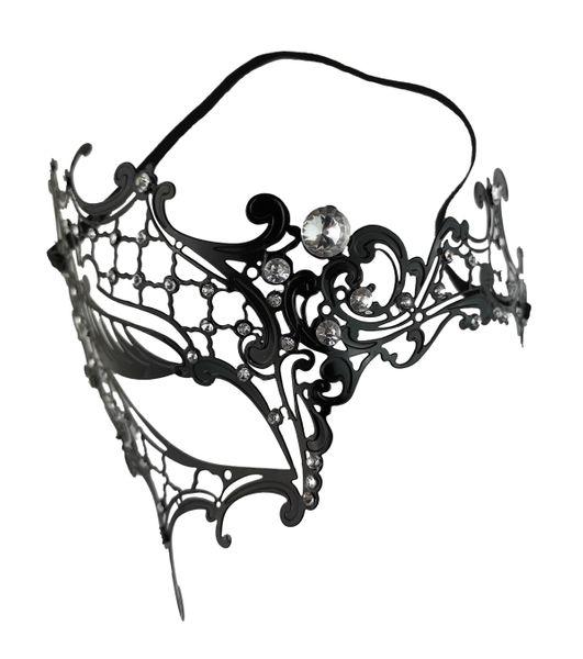 Halbmaske mit Strasssteinen – Bild 1