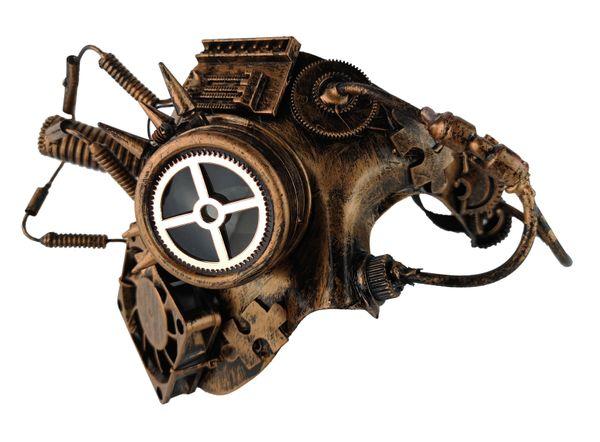 Steampunk Halbmaske bronzefarben – Bild 1