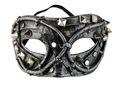 Steampunk Augenmaske silberfarben 001