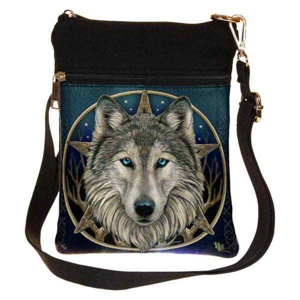 Schultertasche Wolf