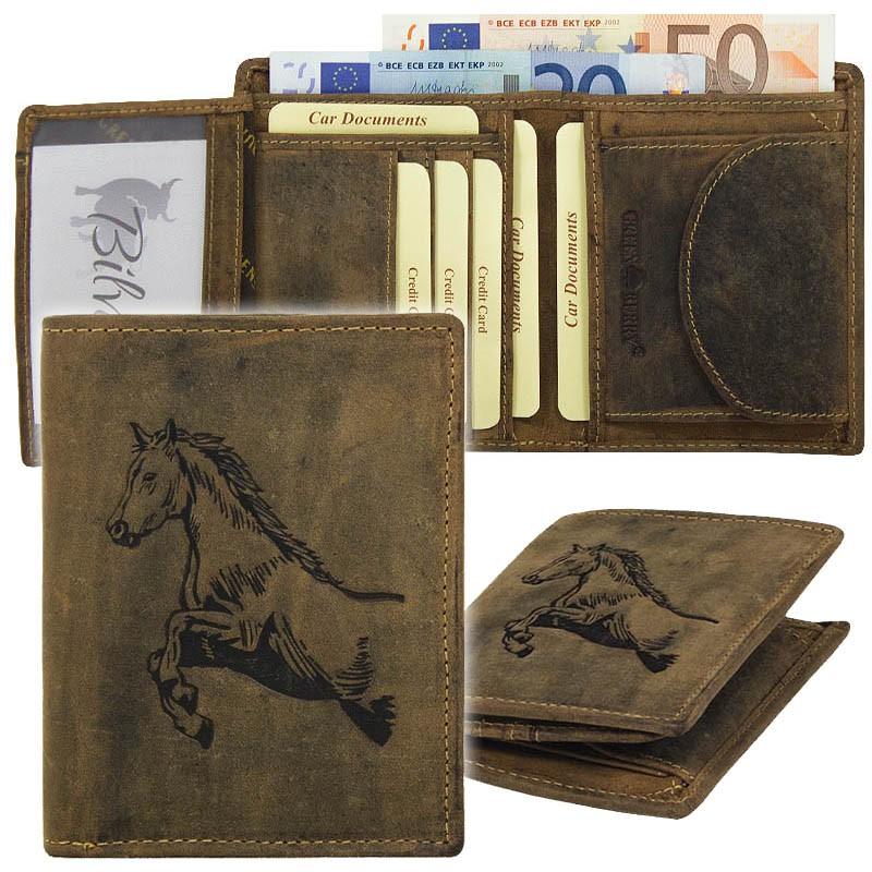 Greenburry Vintage Leder Geldbörse 1701-Horse-25