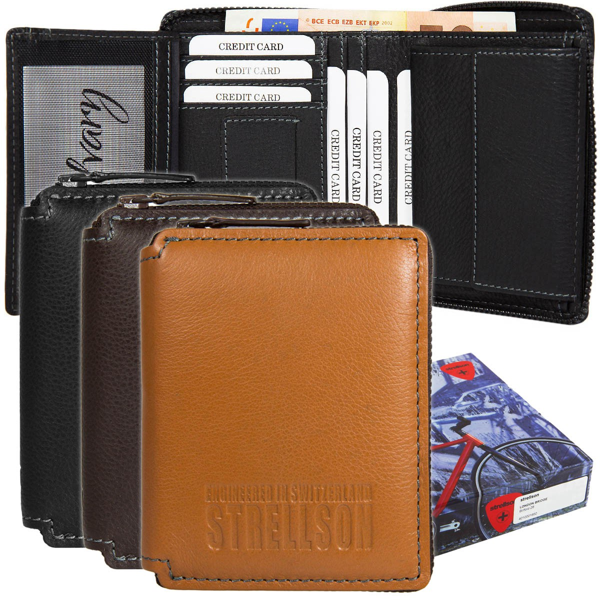 Strellson London Bridge Billfold Z6 Geldbörse 4010001650