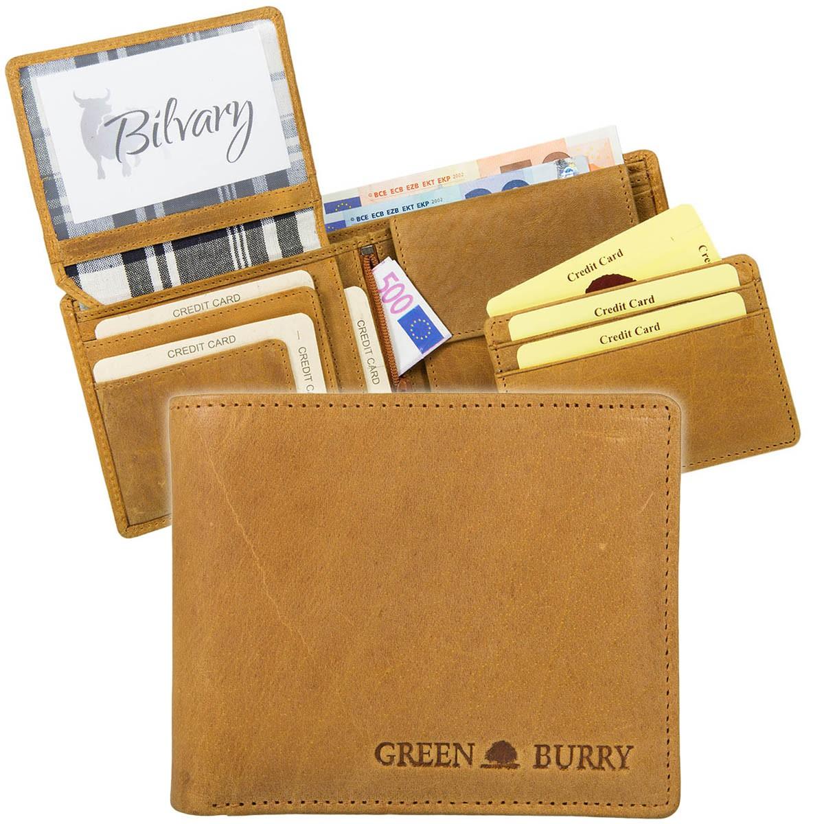 Greenburry Buffalo Chromefree Leder Geldbörse Portmonee 1986-24