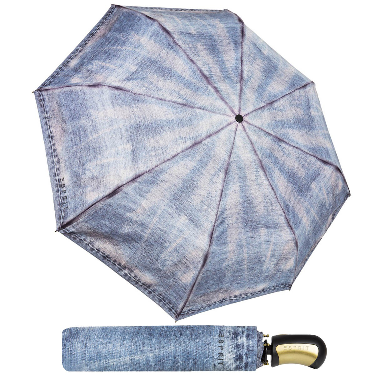 Esprit Easymatic Jeans Regenschirm Umbrella Automatik 50790