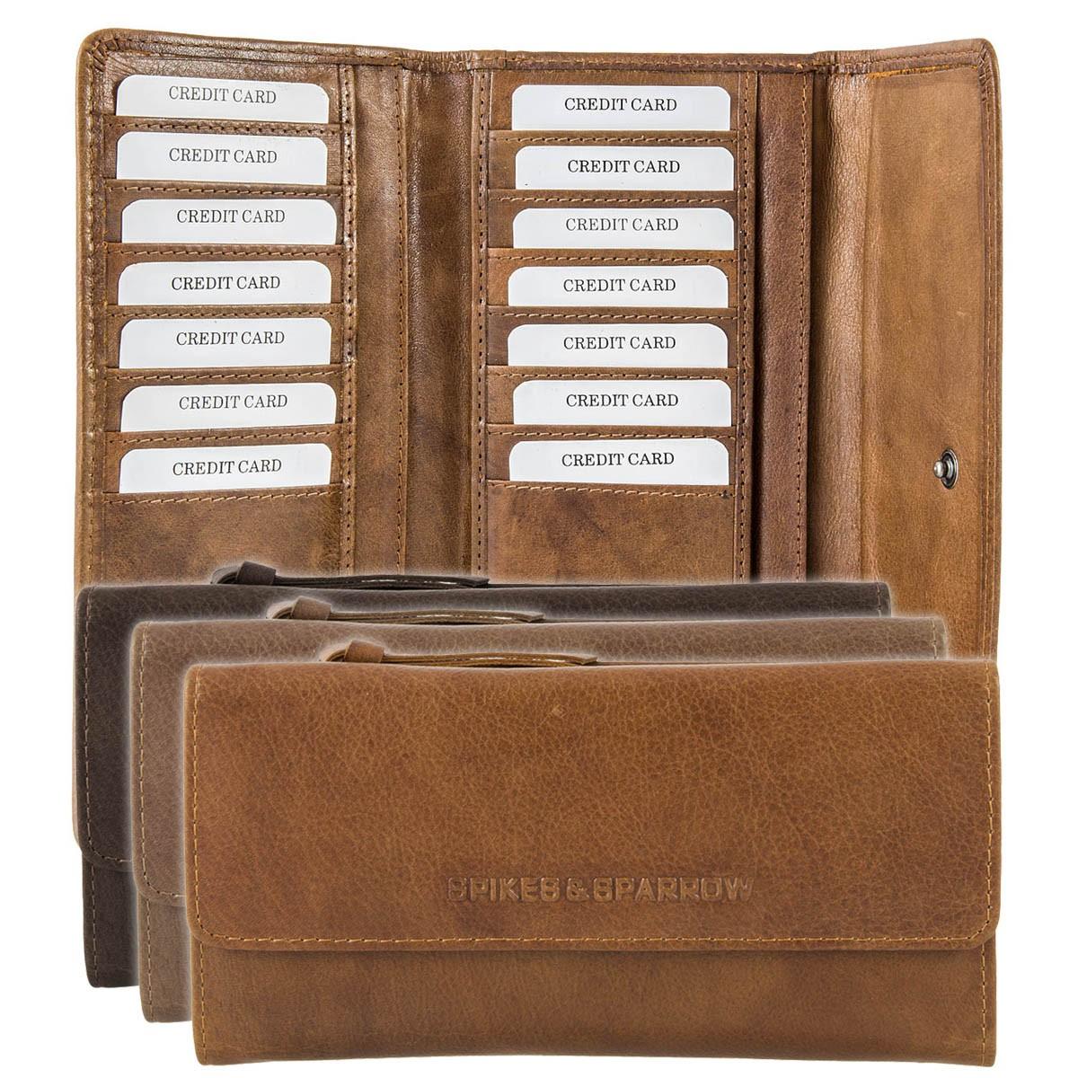 Spikes & Sparrow Savannah Leder Geldbörse Portemonnaie R-224 SA