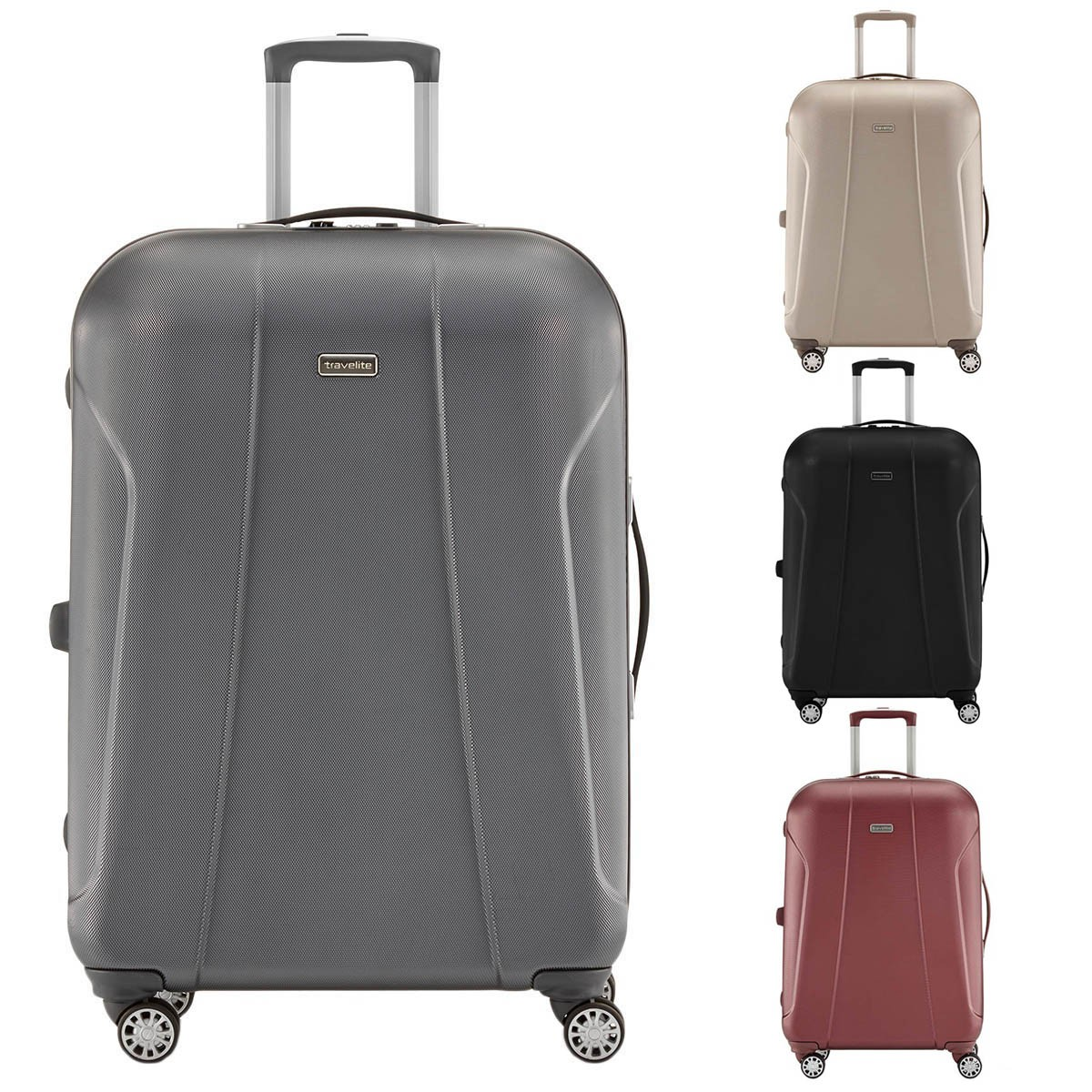 Travelite Elbe Two 4-Rollen M Plus Polycarbonat Trolley 70 cm