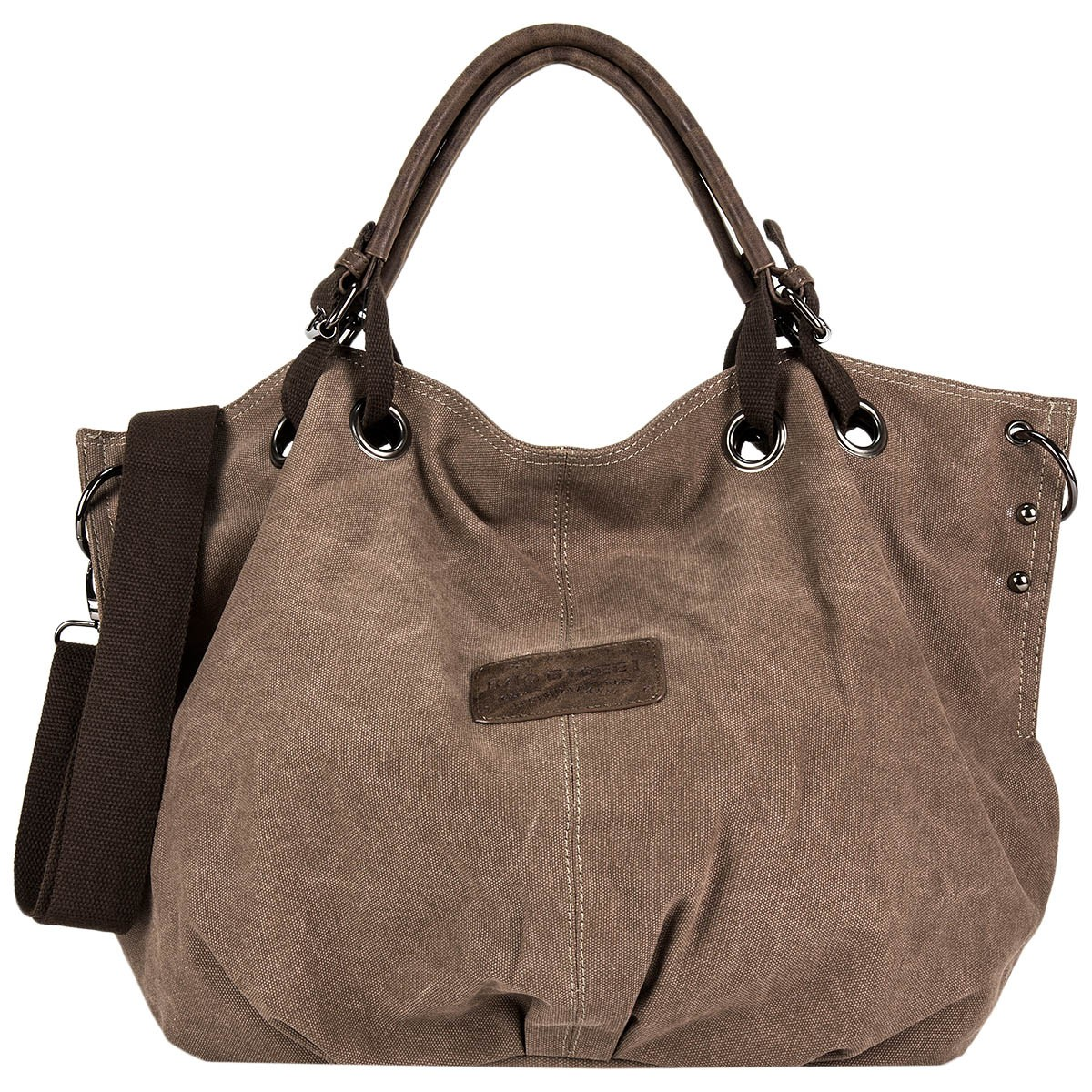 d1c23a1af4aea Bag Street Damen Shopper Handtasche Canvas 4530-1