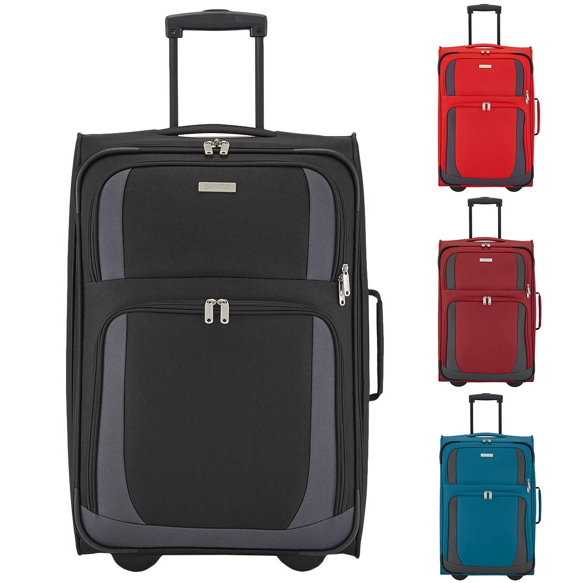 paklite by travelite rocco 2 rollen koffer trolley weichgep ck luggage 61cm ebay. Black Bedroom Furniture Sets. Home Design Ideas