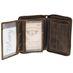 Greenburry Vintage Leder Reißverschluss Geldbörse mit Kette BV-821A-25 003