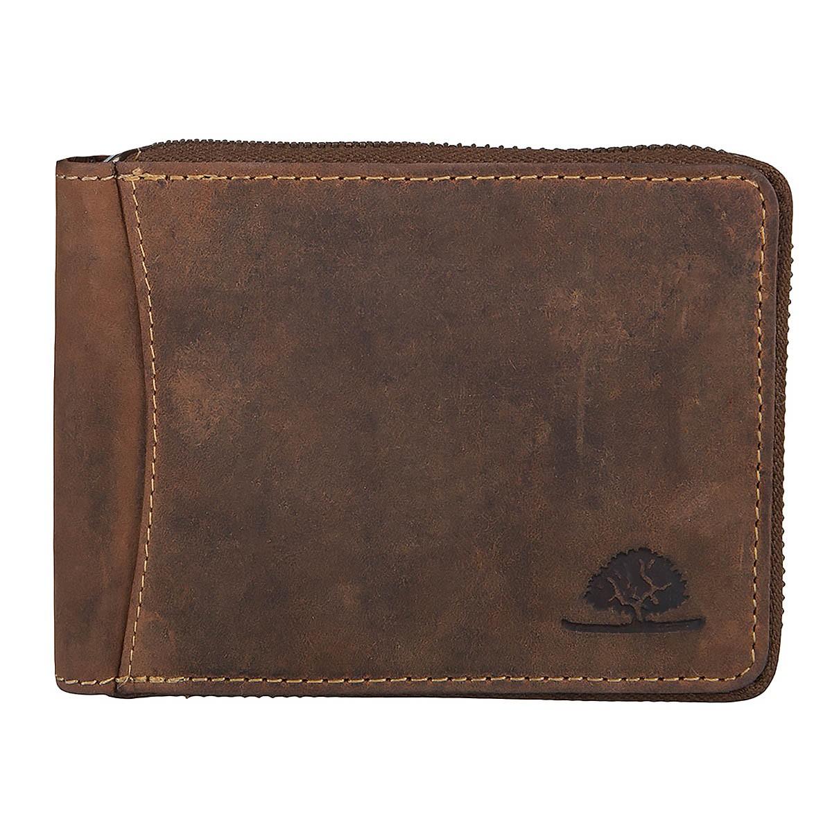 Greenburry Vintage Leder Reißverschluss Geldbörse 1666-25