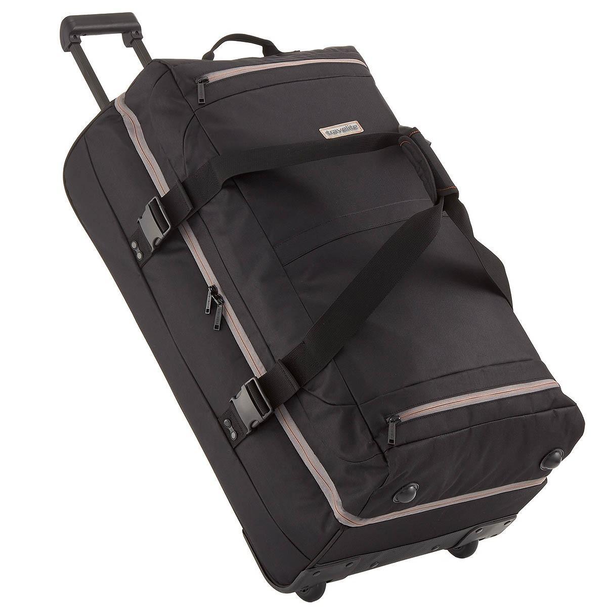 travelite basics xxl doppeldeckertrolley reisetasche mit. Black Bedroom Furniture Sets. Home Design Ideas