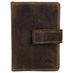 Greenburry Vintage Leder Kartenhalter Dollarclip Geldklammer RFID 1642 001