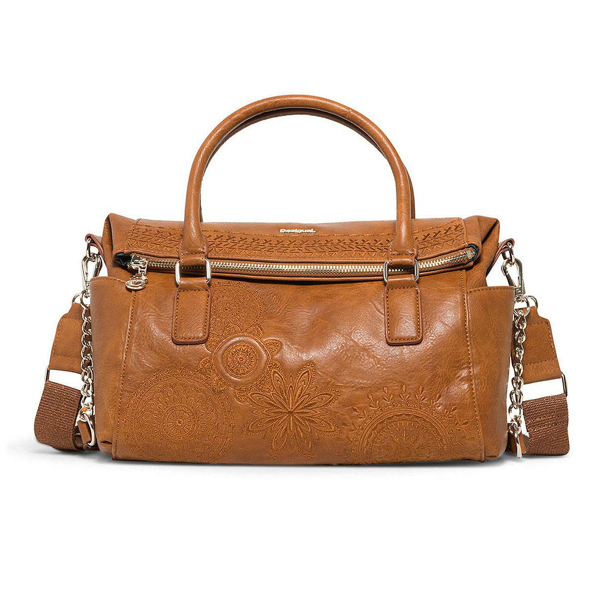 Desigual Handtasche Schultertasche Bols Dark Amber Loverty 18WAXPAB