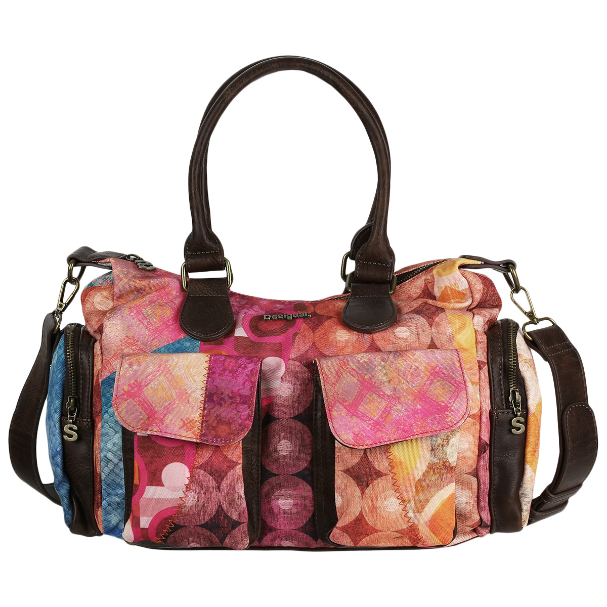 Desigual Damen Handtasche Bols Colorado London Medium 18WAXFX8/3002