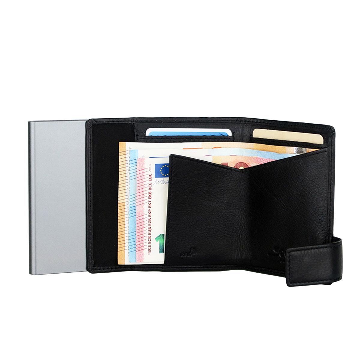 7b67d2559536c SecWal RFID Leder Kartenetui mit Münzfach Geldbörse Portemonnaie Geldbeutel  SW1
